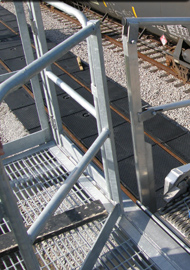 Safety Cage Loading and Unloading Railcar Rack