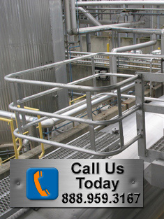 Truck Access Ramp with Swing Gates and Safety Cage