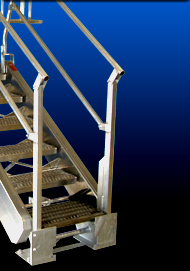 Rail or Truck Loading Rack Stair Unit with Safety Cage