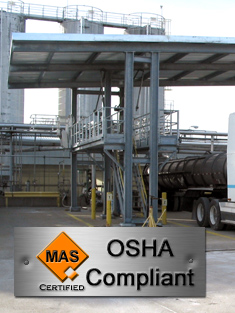 Truck Loading Rack under Canopy with Gangway Safety Cages